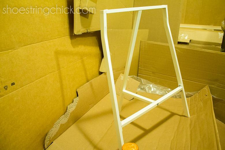 Ikea Lerberg legs spray painted
