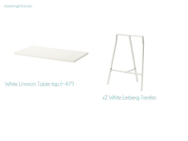 The Linnmon table top also comes in a high gloss finish, which I did not get.