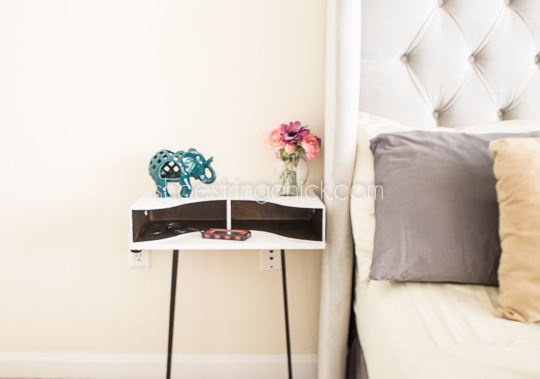 DIY Hairpin Leg Nightstand