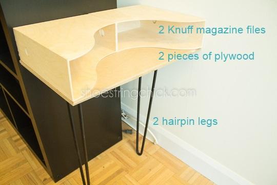 hairpin leg nightstand DIY setup
