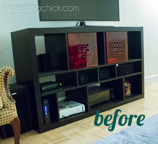 "Ikea Dresser Turned Tv Stand ~   the living room by applying our ""skills"" to paint Ikea furniture"