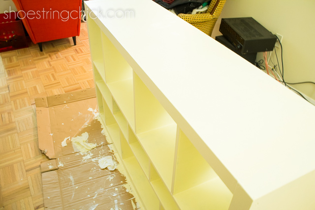 Paint ikea Furniture - Left to dry