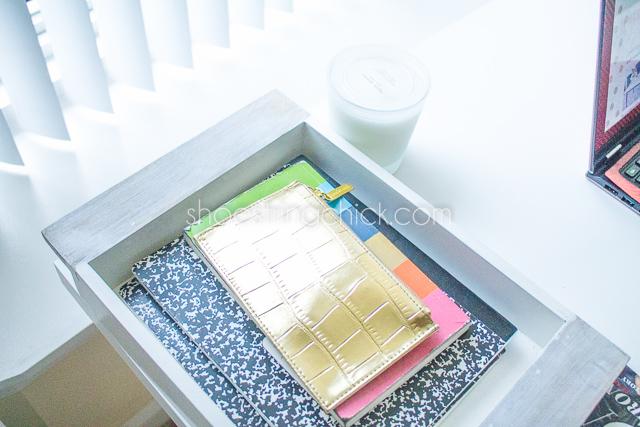 home office decor nate berkus white wood tray