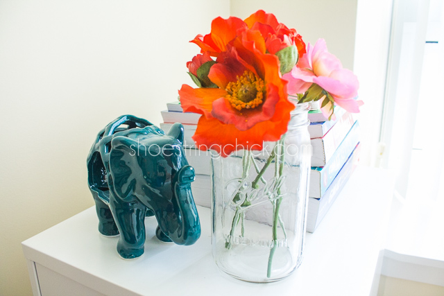 home office decor faux flowers