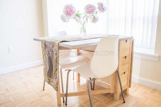 Space Saving Apartment Dining Table Shoestring Chick
