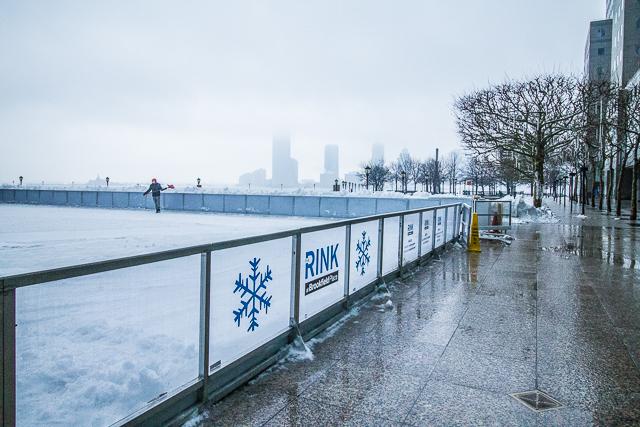 Battery Park Snow Storm