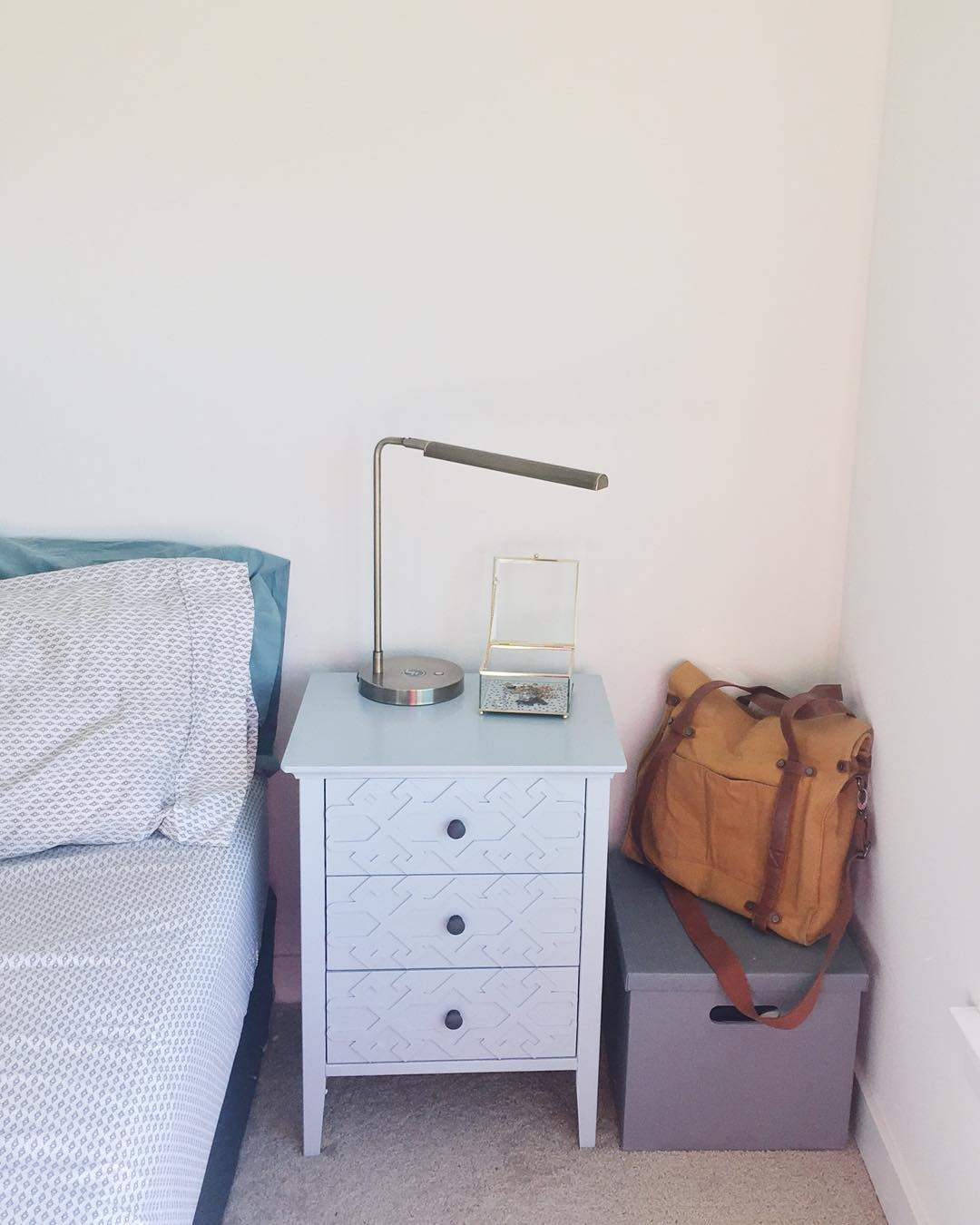 bedroom night stands. Now  to our current bedroom nightstands and how they were chosen below You can see we kept the lamp from Target Our Bedroom Nightstands Liz Du Jour