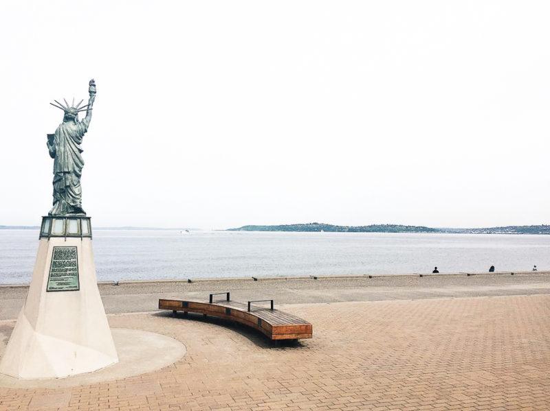 mini statue of liberty Alki beach